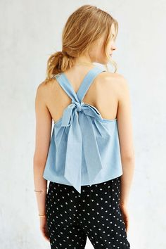 COPE Bow-Back Tank Top - Urban Outfitters