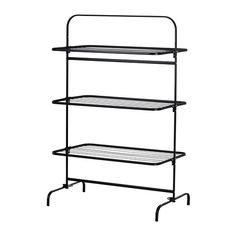 Drying rack 3 levels,  MULIG Black £30 99X58X152 cm