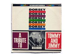 """Sam Suliman record album design c.1960s. """"A Tribute to Tommy and Jimmy Dorsey"""" LP"""