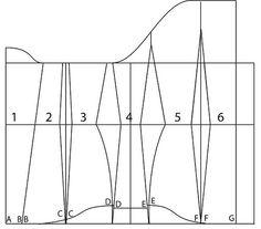 Underbust corset pattern - 35 Corset Sewing Pattern, Bra Pattern, Pattern Drafting, Dress Sewing Patterns, Sewing Bras, Sewing Clothes, Pattern Making Books, Underwear Pattern, Gothic Corset