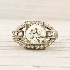 Vintage 1.56 Carat Old European Cut Diamond by ErstwhileJewelry, $10000.00  Thoroughly obsessed with this ring. Thoroughly obsessed.
