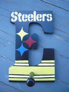 Custom handpainted Pittsburgh Steelers Wooden by simplymade, $15.00