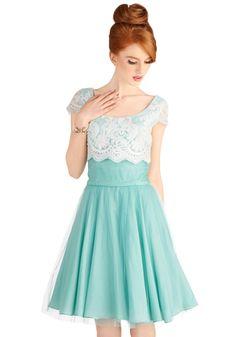 Breathtaking Belle Dress in Mint | Mod Retro Vintage Dresses | ModCloth.com