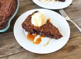 Two Peas and Their Pod - Salted Caramel Skillet Brownies