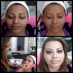 Before and after makeup, airbrush, style