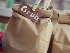 """Grub"" for a campout party."