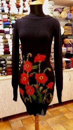 Платье Маков цвет handmade