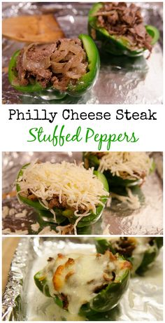 easy Philly Cheese Steak Stuffed Peppers 21 Day fix recipe thesimplyanchored.keto recipes to try; Clean Eating Recipes, Healthy Dinner Recipes, Healthy Eating, Delicious Recipes, Healthy Meals, Grilled Dinner Ideas, Healthy Steak Recipes, Steak Dinner Recipes, Healthy Food