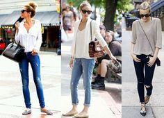 Looks com Calça Jeans e Sapatilha