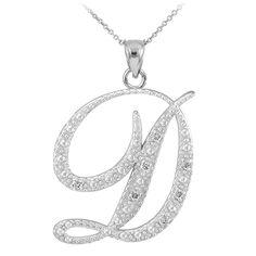 4d4a47014 Sterling Silver D Initial Letter D Letter D Necklace Tiny | Etsy ...