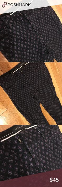 """• Banana Republic • Printed Prof. Ankle Pant The polished Sloan fit sits lower on the waist with a sleek, tailored leg to balance and slim the hips. Our """"power stretch"""" fabric gives this pant amazing stretch and recovery. Hook-and-bar closure and zip fly. Front coin pocket. Back welt pockets. Banana Republic Pants"""