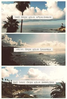 Never regret a day in life