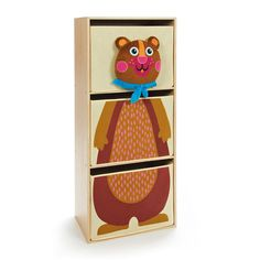 Purchase best OOPS HAPPY BEDROOM BEAR CREAM DRAWERS at just $179.95 from All 4 Kids Online.