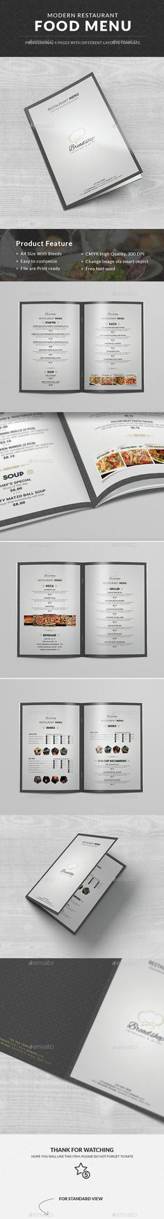 Restaurant Food Menu - Print Ready Food Menu Template, an intelligent choice for elegant, classy restaurant and catering businesses.   http://graphicriver.net/item/restaurant-food-menu/14603475?ref=themedevisers