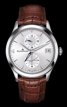 Jeager Le Coultre Master Hometime stainless steel automatic Available at Cellini Jewelers