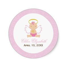 Sweet Baby Girl Baptism Stickers