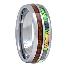 Tungsten Hawaiian Koa Wood and Abalone Inlay Wedding Ring... http://www.amazon.com/dp/B01EVYGT7I/ref=cm_sw_r_pi_dp_Jb1rxb1CT7AD7