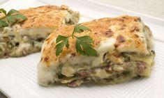 Karlos Arguiñano elabora una receta de lasaña de calabacín, champiñones y jamón con bechamel y queso gratinado.