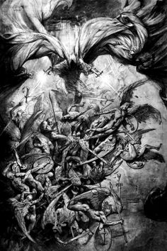 Fallen Angels vs Demons | Angels vs Demons Drawings http://www.tumblr.com/tagged/demons%20and ...