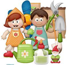 niños jardinería