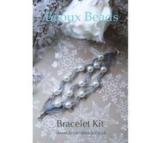 Pearl & Organza Bracelet Making Kt Jewellery Making, Bracelet Making, Pearl Necklace, Beaded Bracelets, Kit, Pearls, Sewing, Jewelry, String Of Pearls