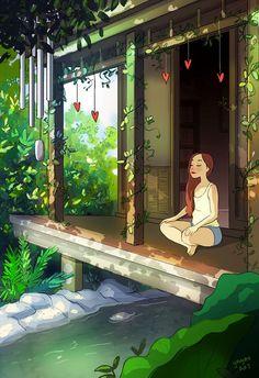 Ilustrações mostram que morar sozinho pode ser maravilhoso