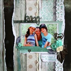 January Kaisercraft Layouts for All About Scrapbooks