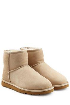 #UGG #Australia #Boots #Classic #Mini aus #Schafleder #, #Beige für #Damen…