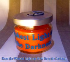 Even the Weakest Light can Hold Back the Darkness #candle
