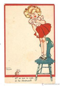 postal - maría claret - colección mari pepa - serie e - número 3