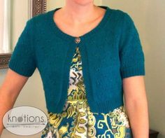 Little Peacock Cropped Cardigan by Sarah Hoadley -- free pattern