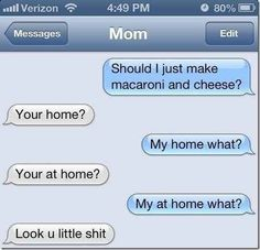 I'm Comin' Home: | 26 Texts You Need To See Before You Die. Hahaha!! This is why you use correct grammar!!