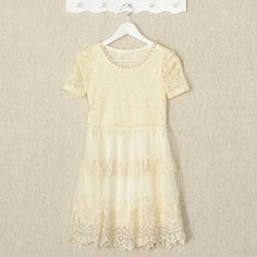 Buy 'YesStyle Z – Short-Sleeved Beaded Lace A-Line Dress' with Free International Shipping at YesStyle.com. Browse and shop for thousands of Asian fashion items from Hong Kong and more!