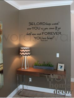 Vinyl Wall Art Decal - The Lord Keeps Watch. You are loved.  Psalm 121:8. Bible Verse wall decal. Scripture verse on Etsy, $52.48