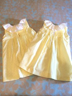 """Dresses for twin girls. Hand Made by my mom. For more info go to facebook page """"Fofos & Cia."""""""