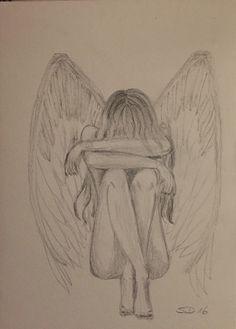 Engel Bleistift Zeichnung