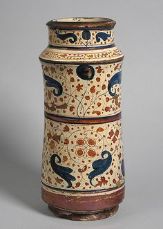 Pharmacy Jar Date:second half 15th century Geography:Made in Manises, Valencia, Spain Culture:Spanish