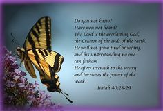 God Gives Strength to the Weary and Power to the Weak