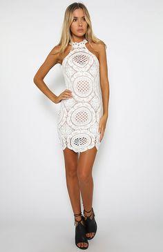 Zero Control Dress - White | New Arrivals | Peppermayo