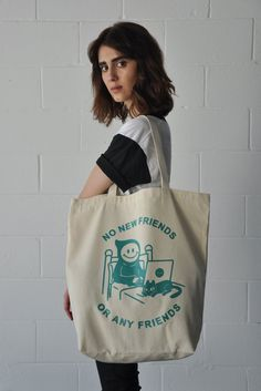 No Friends tote bag | Stay Home Club
