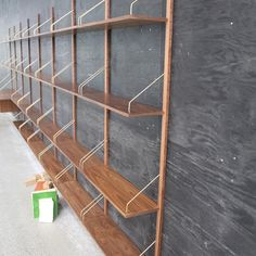 A never ending story... The original ROYAL SYSTEM shelving designed by Danish Poul Cadovius in 1948 #dk3 #trueaesthetics #royalsystem #poulcadovius #1948 #theoriginal #madeindenmark #aneverendingstory