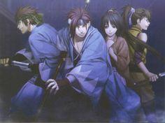 Chizuru, Harada, Heisuke y Nagakura