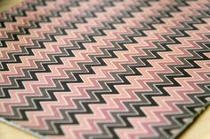 Chevron pattern print on leather by Pineapple Studio. #patterndesign #surfacedesign