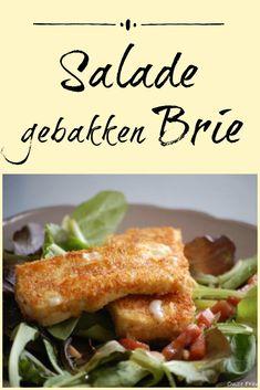 Voor deze salade met gebakken brie geef je de kaas een dun paneellaagje. Daardoor krijg je een heerlijke kaasstick.