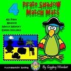 Pirate Shadow Match Mats by Giggling Wombat | Teachers Pay Teachers