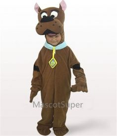 Only $181 Brown Dog Open Face Kids Plush Mascot Costume