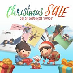 """www.hj-story.com/store Xmas is coming and it's time for a 20% sales off all items in store!*  Use coupon code """"XMAS20"""" during checkout for 20% off your cart!  International Standard shipping usually takes 3-4 weeks for delivery, please consider express shipping for time sensitive order.  *not applicable for Stationery Gift Set"""