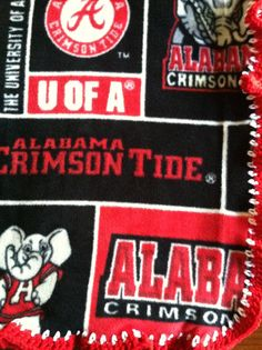 "Alabama Crimson Tide Football Block Fleece Sports by CozyKrafts, $19.95  So many teams to choose from for the little ""Fan"" in your life!"