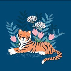 """@klarahawkins shared a photo on Instagram: """"How did I not know that yesterday was International Tiger Day!?! 😳🤣 There's a day for everything it seems! Print available from my Etsy…"""" • Jul 30, 2020 at 8:13pm UTC Tiger Art, Lazy Cat, Embroidery Patterns Free, Easter Holidays, Tigger, Creative Art, Disney Characters, Fictional Characters, Drawings"""