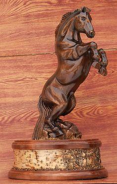 скульптура коня | Резьба по дереву, кости и камню